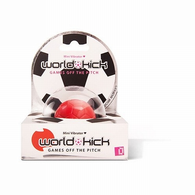 World Kick mini vibrerende voetbal (vibratie ei), rood