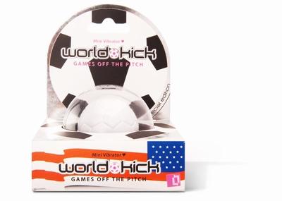World Kick mini vibrerende voetbal (vibratie ei), wit