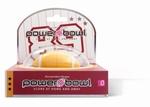 Power Bowl Mini sleutelhanger vibrator Rugby bal, Geel