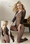 Catsuit met v-hals en open kruis, one size fits most