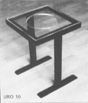 Zwart krukje in H-vorm met plexiglas zitting